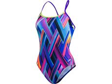 Speedo Fizzbounce Flipturns Badeanzug Crossback, High Leg -  Endurance+