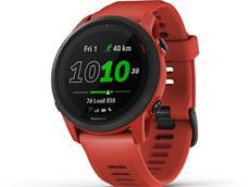 Garmin Forerunner 745 GPS Triathlonuhr magmarot