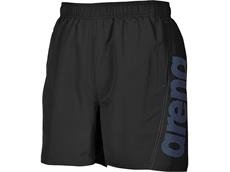 Arena Fundamentals Logo Boxer Watershort - S black/pix blue