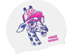 Mad Wave Giraffe Junior Silikon Badekappe white