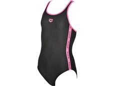 Arena Hyper Mädchen Badeanzug Swim Pro Back - 140 black/paparazzi