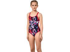 Aquafeel I-NOV Camou Splash Mädchen Badeanzug V-Back