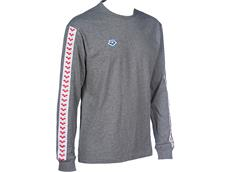 Arena Icons Herren Team Long Sleeve Shirt - S dark grey melange/white/red