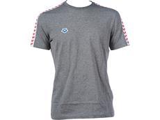 Arena Icons Herren Team T-Shirt - XXXL dark grey melange/white/red