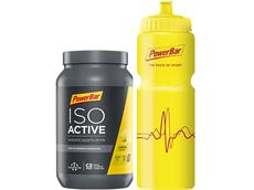 PowerBar Isoactive Sports Drink 600 g Bottle Onpack + Radflasche