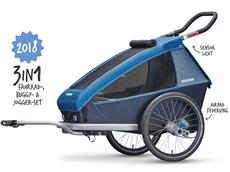 Croozer Kid Plus for 1 2018 Kinderanhänger ocean blue