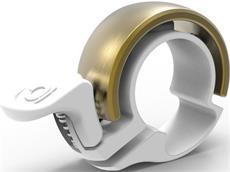 Knog Oi Classic small Klingel Alu 22,2 mm - brass/white mount