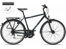Gudereit LC-30 Einrohr Trekkingrad Dekor grau/schwarz