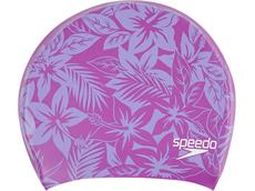Speedo Long Hair Printed Silikon Badekappe