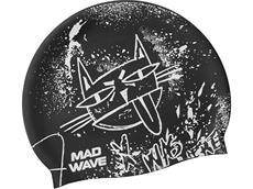 Mad Wave Mad Cat Junior Silikon Badekappe black