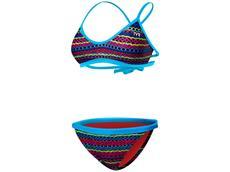 TYR Morocco Schwimmbikini blue multi Mojave Tieback Top + Tropix Bikinii Bottom