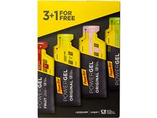 PowerBar Multiflavour PowerGel  Pack 4 x 41 g red fruit, lemon lime,strawberry banana, green apl