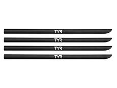 TYR Hand Paddle Strap Kit Ersatzbänder black, 4 Stück