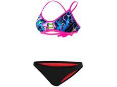 TYR Penello Schwimmbikini pink multi Pacific Tieback Top + Bikini Bottom black