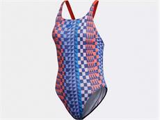 Adidas Performance Graphic Badeanzug red/dark blue - 36