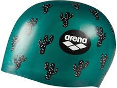 Arena Poolish Moulded Silikon Badekappe - cactus green
