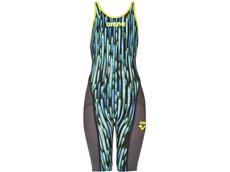 Arena Powerskin Carbon Ultra Wettkampfanzug FBSL, Open Back - 28 blue drops/fluo yellow