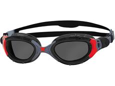 Zoggs Predator Flex Polarized Schwimmbrille black-red/smoke