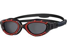 Zoggs Predator Flex Polarized Schwimmbrille red-black/smoke polarized