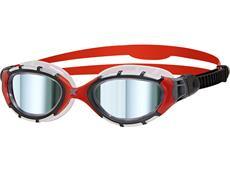 Zoggs Predator Flex Titanium Mirror Schwimmbrille frame-red/mirror