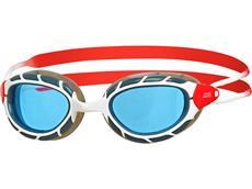 Zoggs Predator Schwimmbrille white-red/tinted blue