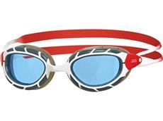 Zoggs Predator Schwimmbrille white-red/blue
