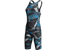 TYR Prelude Wettkampfanzug Open Back - 32 black/blue