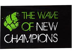 Mad Wave Promo Baumwoll Handtuch black/green 80x160 cm