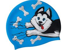 Mad Wave Puppy Junior Silikon Badekappe azure