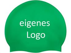 Smit Sport Soft Silikon 50 Badekappen eigenes Logo M eine Druckfarbe - green