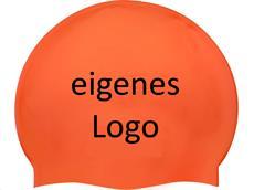 Smit Sport Soft Silikon 100 Badekappen eigenes Logo M eine Druckfarbe - orange