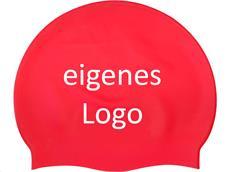 Smit Sport Soft Silikon 50 Badekappen eigenes Logo M eine Druckfarbe - red