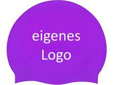 Smit Sport Soft Silikon 100 Badekappen eigenes Logo M zwei Druckfarben - violet