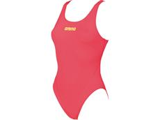 Arena Solid High Badeanzug Swim Tech Back - 38 fluo red/soft green