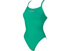 Arena Solid High Badeanzug Lighttech Back - 36 persian green/aphrodite