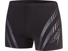 Speedo Sport Panel Aquashort Badehose  Endurance+ - 4 black/grey