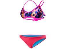 TYR Stellar Schwimmbikini black/pink Mojave Tieback Top + Mini Bikini Bottom pink