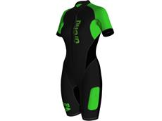 Arena SwimRun Wetsuit Women Neoprenanzug black/fluo green