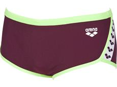 Arena Team Stripe Low Waist Badehose - 7 red wine/shiny green