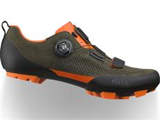 Fizik Terra X5 Suede MTB Schuh military green/orange fluo