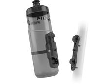 Fidlock Twist Bottle Flaschenhalter inkl. 600 ml Flasche transparent black