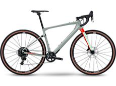 BMC UnReStricted ONE V1 Gravel Roadbike - L speckle grey/neon red
