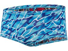 Speedo Waterflow/Fireglam Flipturns Print Badehose Reverse, Brief 14 cm - Endurance+
