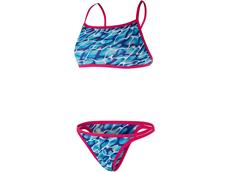 Speedo Waterflow/Fireglam Flipturns Schwimmbikini Reverse Crossback - Endurance+