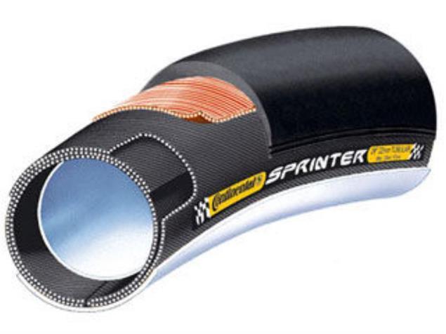 """Continental Sprinter 26"""" x 22 mm Schlauchreifen schwarz"""
