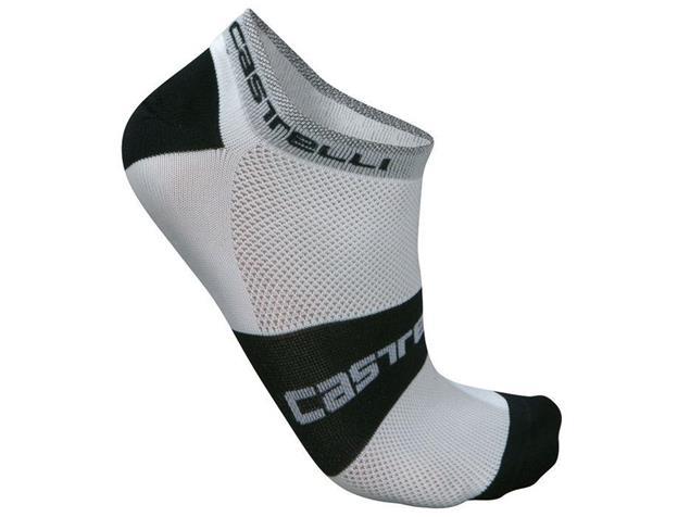 Castelli Lowboy Socken - XXL white/black