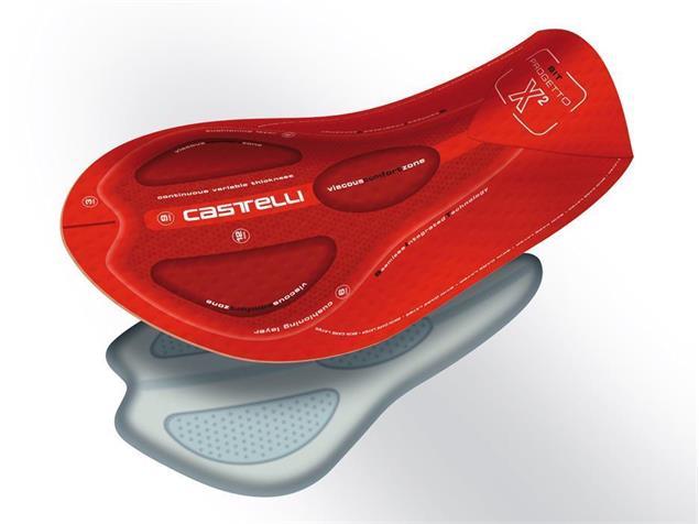 Castelli Sorpasso Trägerhose lang mit Einsatz - XXXL black/red