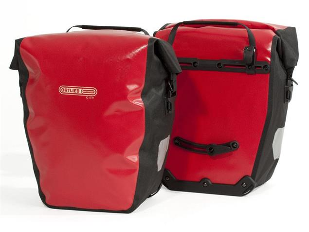 Ortlieb Back-Roller City Fahrradtasche - rot/schwarz