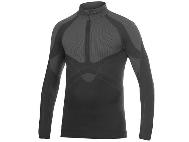 Craft Warm Zip Mockneck Langarm-Shirt - M schwarz