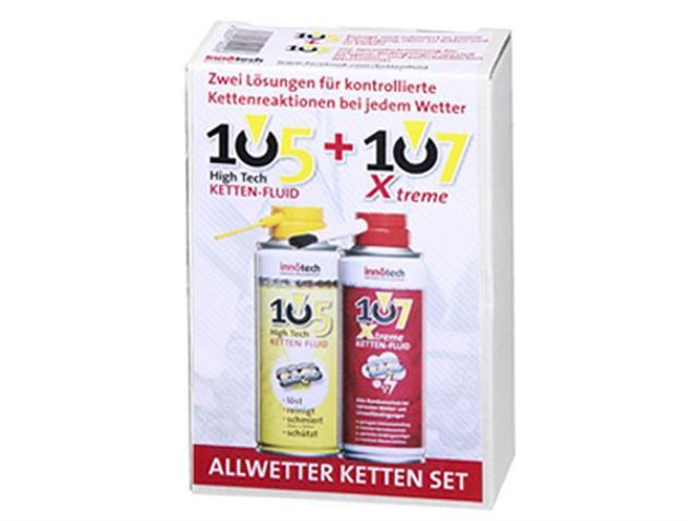 Innotech Hightech 105 Kettenfluid + Xtreme 107 2 x 200 ml mit Pinsel